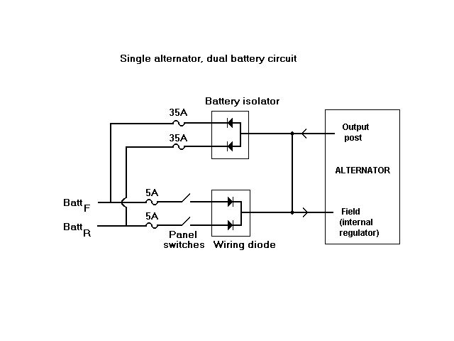 dual battery single alternator charging circuit rh n416 com